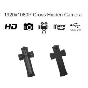 Cross Hidden Spy Camera with built in DVR Front - Back