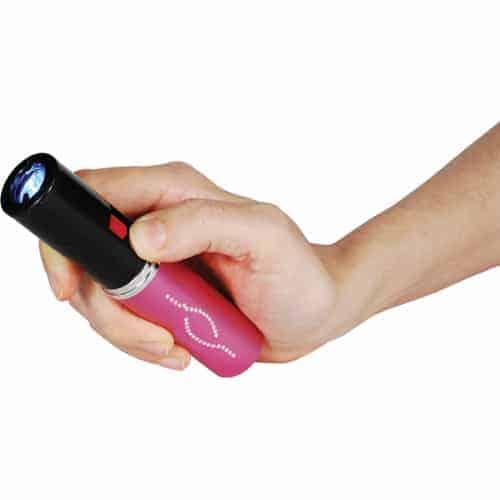 Stun Master Lipstick Stun Gun Rechargeable With Flashlight - Light On