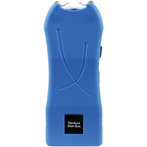 Runt Rechargeable Stun Gun With Flashlight And Wrist Strap Disable Pin Blue