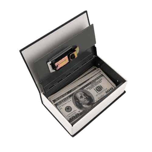Key Locking Book Safe Money