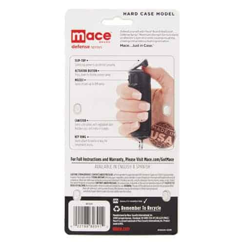 Mace® Pepper Spray Hard Case Instructions