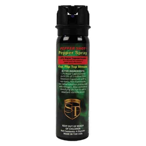 Pepper Shot 1.2% MC 4 oz Pepper Spray Flip Top