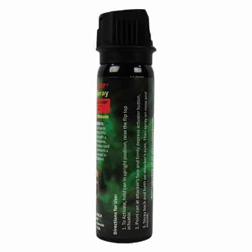 Pepper Shot 1.2% MC 4 oz Pepper Spray Flip Top Directions