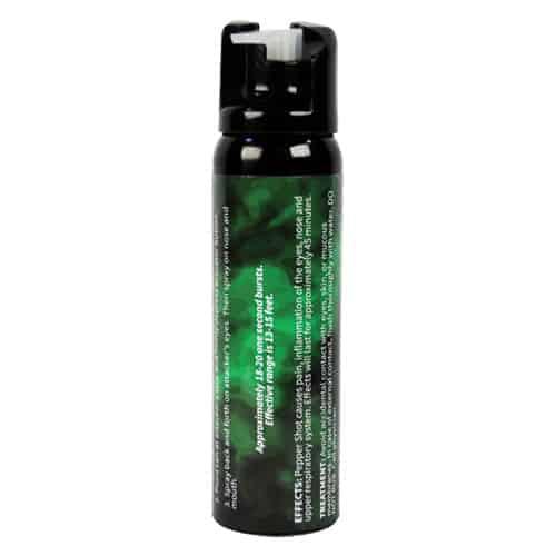 Pepper Shot 1.2% MC 4 oz Pepper Spray Fogger Side