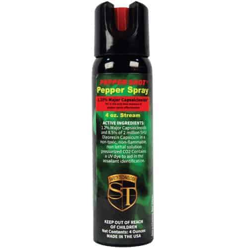 Pepper Shot 1.2% MC 4 oz Pepper Spray Stream